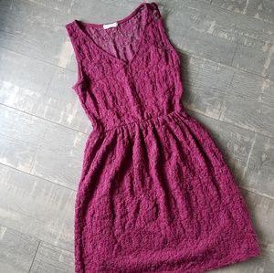 ☀️3/$25 Everly Burgundy Maroon Lace V-neck Dress